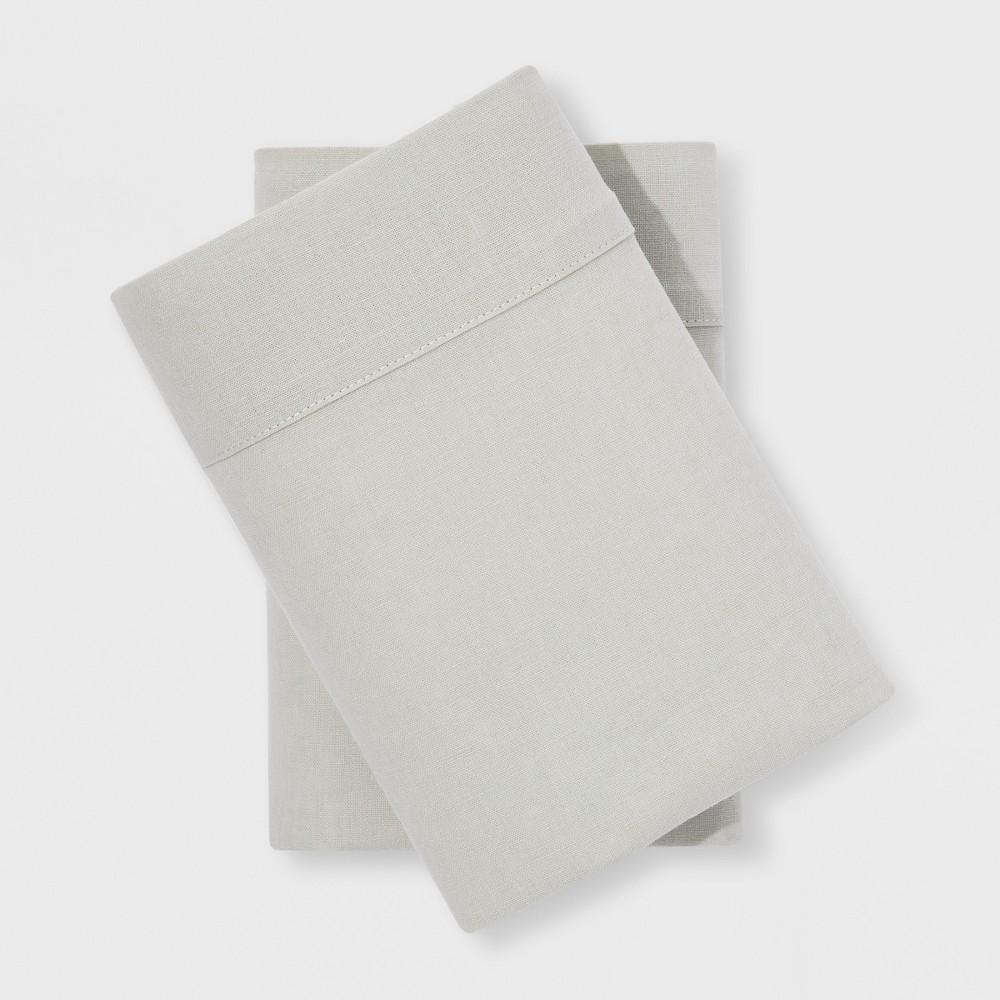 Linen Blend Pillowcases (Standard) Forgotten Sage - Threshold