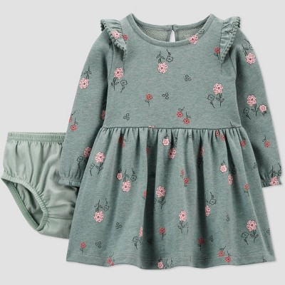 Baby Girls' Floral Dress - Just One You® made by carter's Sage Green 9M