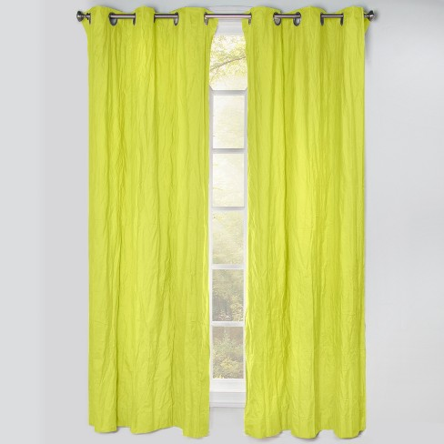 """50""""x84"""" Blackout Grommet Curtain Panels Granny Smith Green - Crayola - image 1 of 1"""