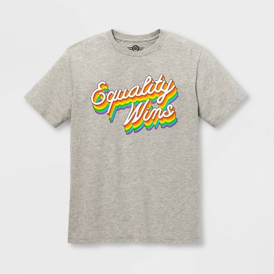Pride Adult Short Sleeve Equality Wins Gender Inclusive T Shirt   Heather Gray by Shirt