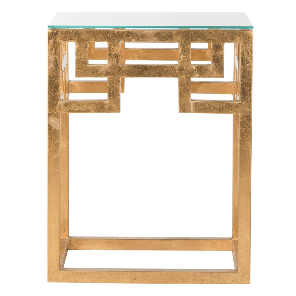 Burbage End Table Gold/Clear - Safavieh