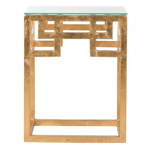 Burbage End Table Gold/Clear - Safavieh - image 1 of 4