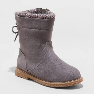 Toddler Girls' Walda Riding Boots - Cat & Jack™ Gray 6