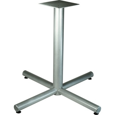 "Lorell Cafe Table Base X-Leg 42""x42""x30"" Metallic Silver 61630"