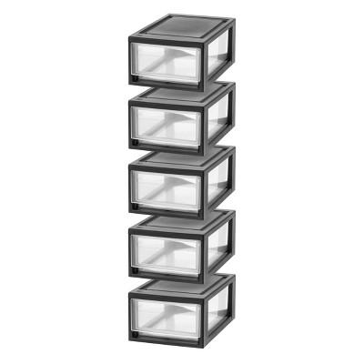 IRIS 5pk Small Stacking Storage Drawer
