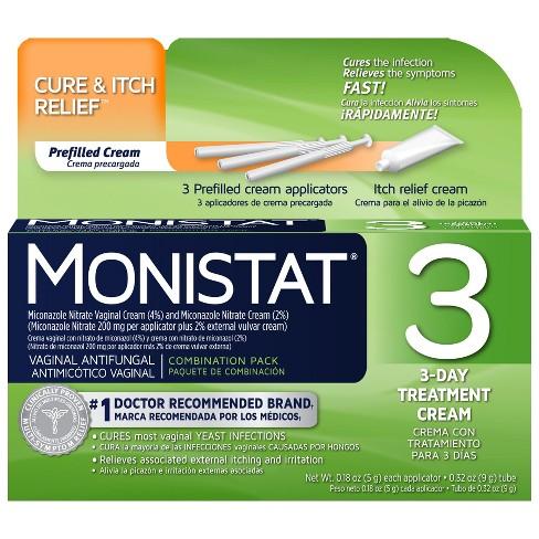 Monistat 3 Antifungal Treatment Cream Combination Pack Target
