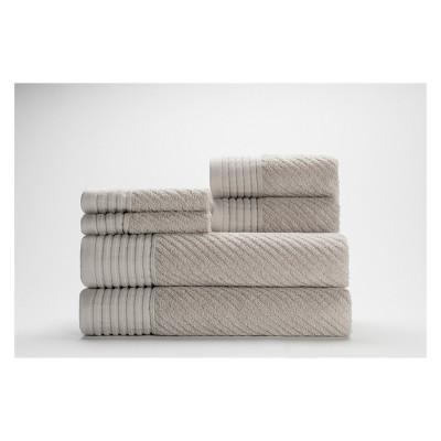 6pc Beacon Bath Towel Set Silver - CARO HOME