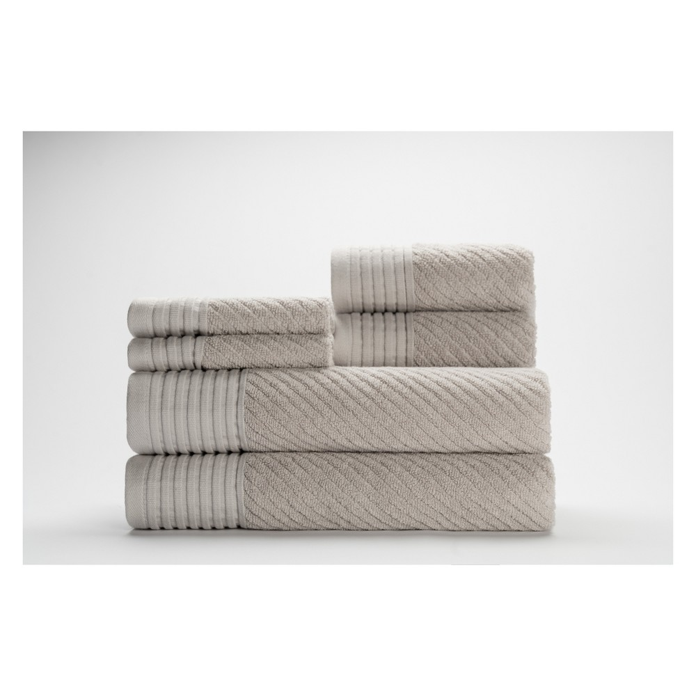 Image of 6pc Beacon Silver Bath Towels Sets - Caro Home