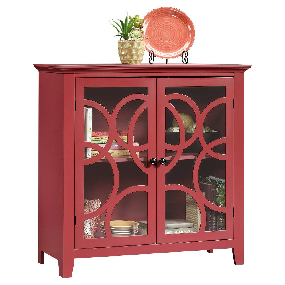 Shoal Creek Elise Display Table - Red - Sauder