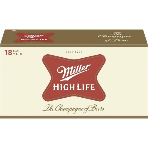 Miller High Life Beer - 18pk/12 fl oz Cans - image 1 of 4