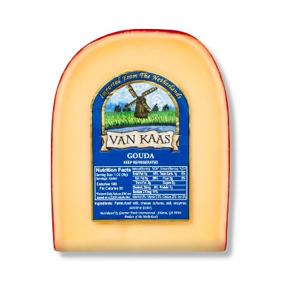 Van Kaas Gouda Cheese Wedge - 7oz