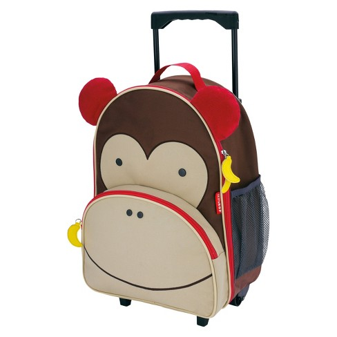 Skip Hop Zoo Little Kid & Toddler Rolling Luggage, Monkey - image 1 of 3