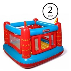 Fisher-Price Bouncetastic Inflatable Castle Bouncer w/ Removable Walls (2 Pack)
