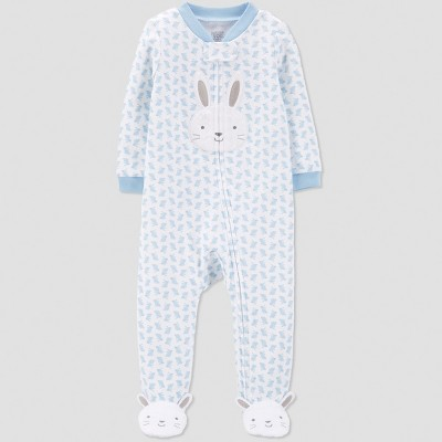 Baby Boys' Bunny Print Sleep 'N Play - Just One You® made by carter's Blue 9M