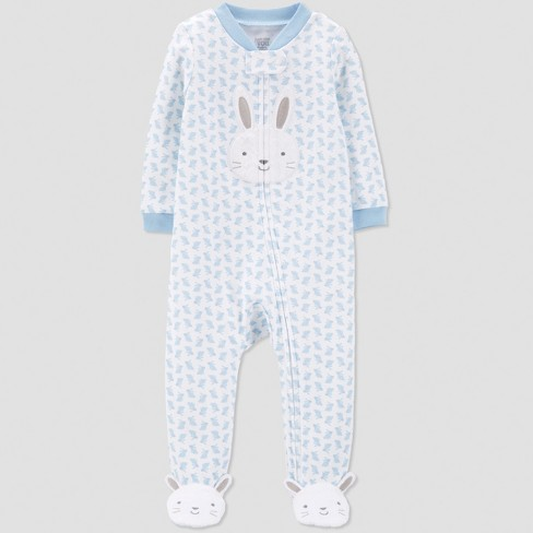 Baby Boys' Bunny Print Sleep 'N Play - Just One You® made by carter's Blue - image 1 of 1