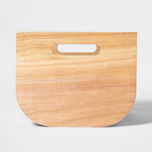 """Small Paulownia Wood Bin with Fabric Sides Silver Green 8""""x10"""" - Project 62™ - image 1 of 4"""