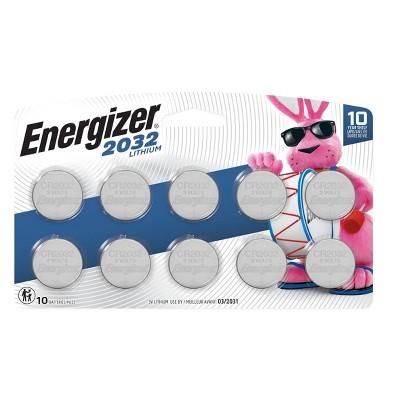 Energizer 10pk 2032 Batteries Lithium Coin Battery