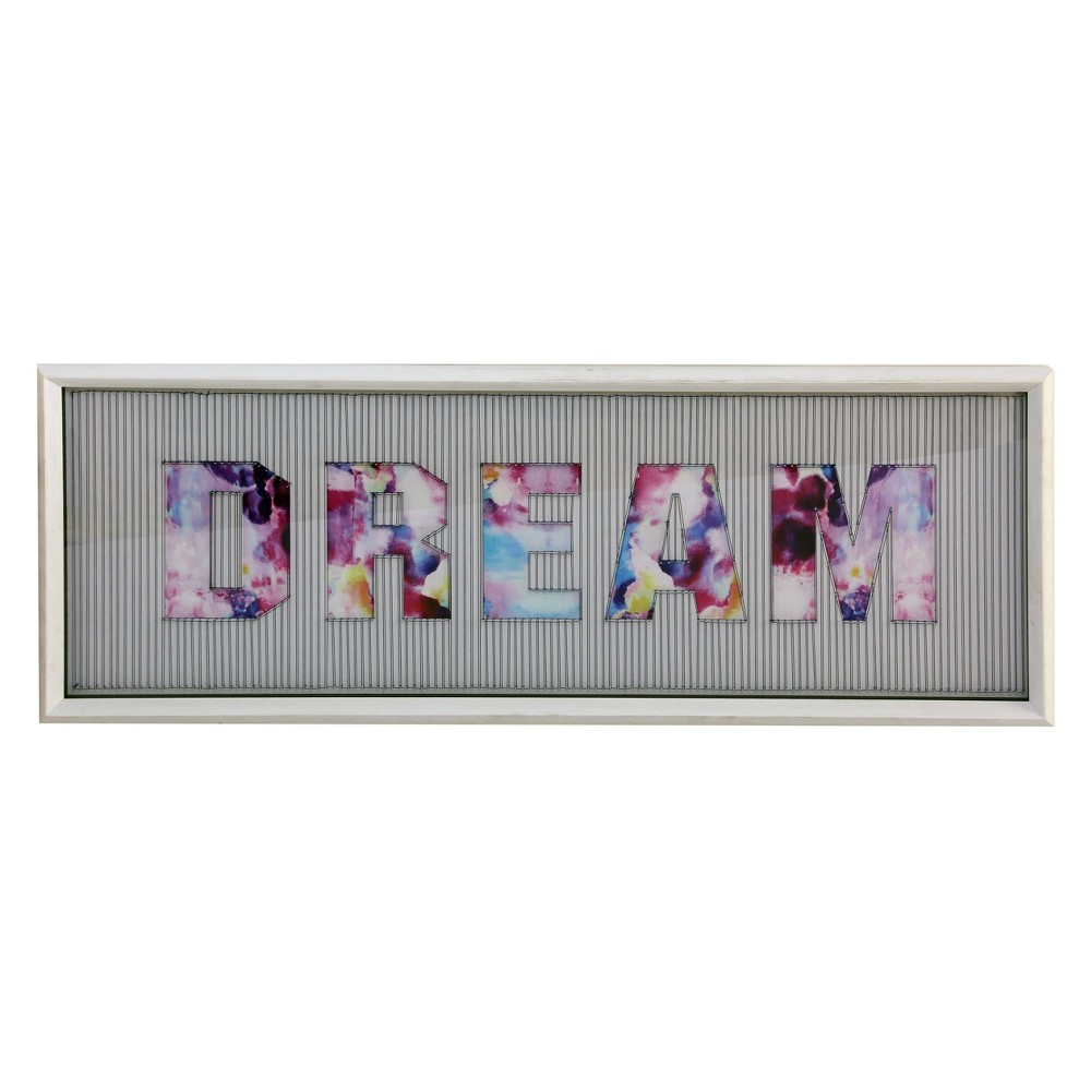 """Image of """"13.4"""""""" Dimensional Dream String Framed Decorative Wall Art White - StyleCraft"""""""
