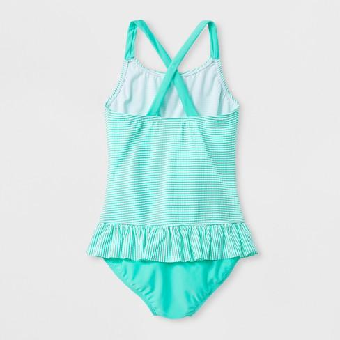 f7279696e04 Girls  Seersucker One Piece Swimsuit - Cat   Jack™ Mint   Target