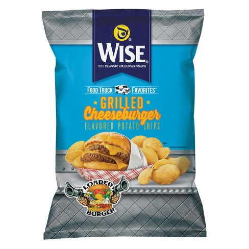 Wise Grilled Cheeseburger Flavored Potato Chips - 8.5oz - image 1 of 1