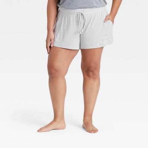 Women's Plus Size Beautifully Soft Pajama Shorts - Stars Above™ Gray - image 1 of 2