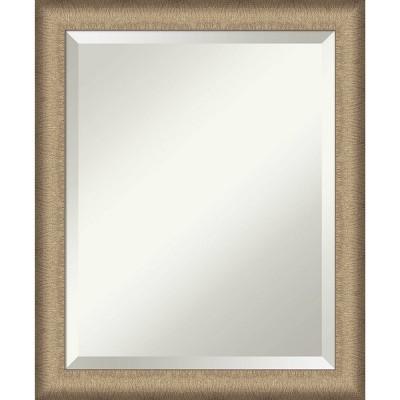 Elegant Brushed Framed Bathroom Vanity Wall Mirror - Amanti Art