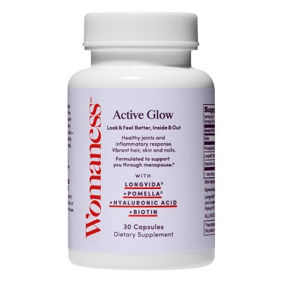 Womaness Active Glow Beauty and Hair, Skin, Nails & Joint Supplement - 30ct