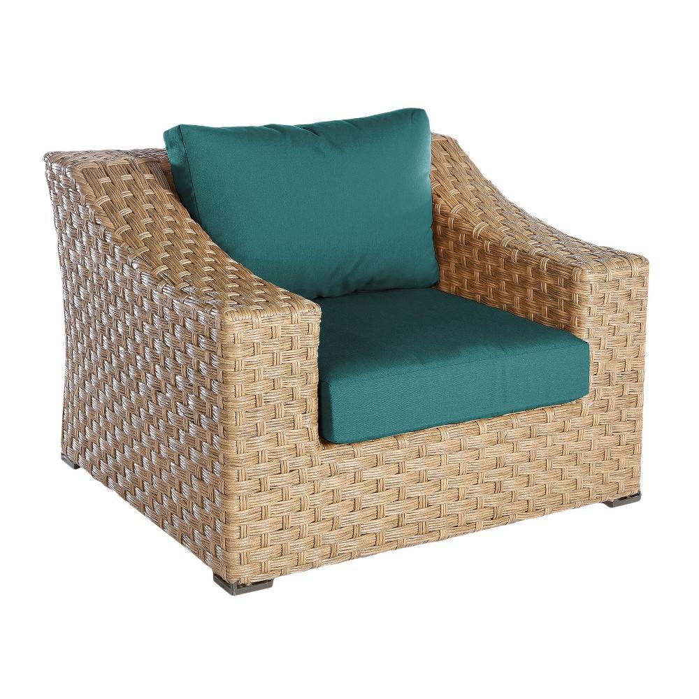 Image of 1pc Elizabeth Single Arm Chair Spectrum Peacock - AE Outdoor