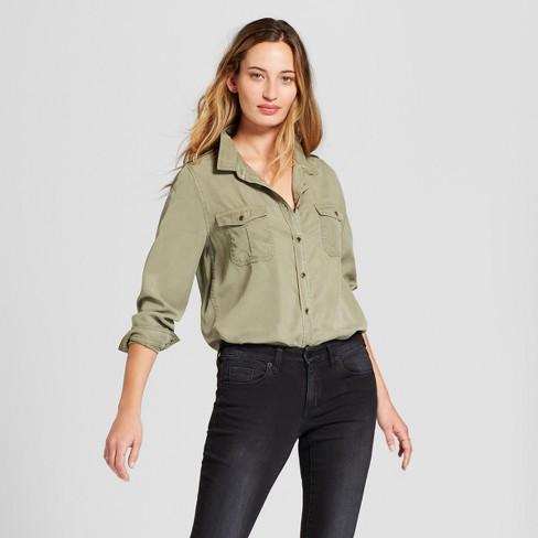 996b67aacec5b Women s Long Sleeve Soft Twill Shirt - Universal Thread™   Target