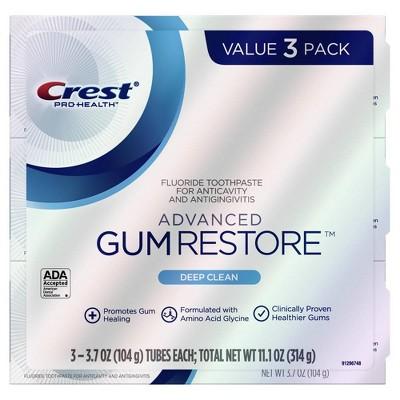 Crest Pro-Health Advanced Gum Restore Deep Clean Toothpaste - 3.7oz/3pk