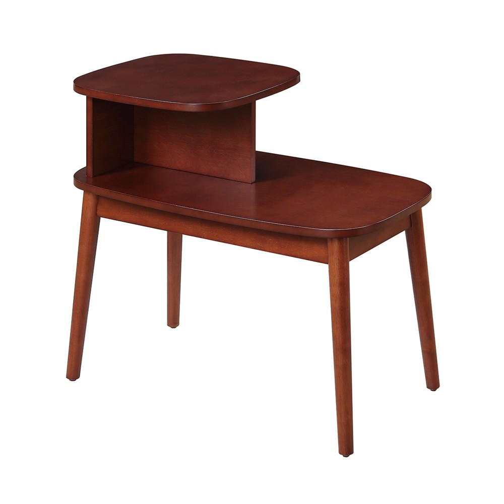 Maxwell Mid Century End Table - Mahogany (Brown) - Johar Furniture