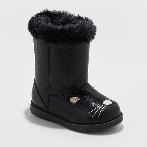 Toddler Girls' Etha Ankle Fashion Boots - Cat & Jack™ Black - image 1 of 3