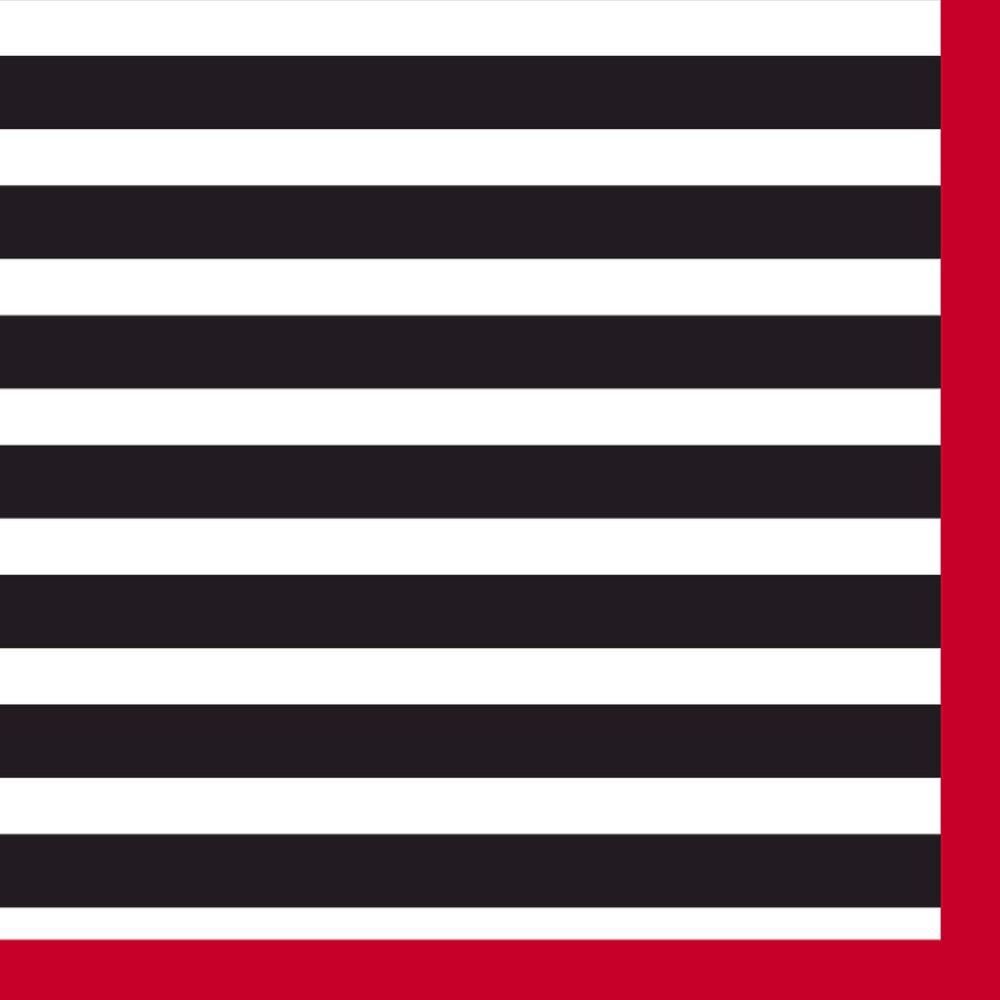 16 ct Black & White Stripe Napkin - Spritz