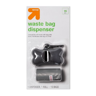 Dog Waste Bag Dispenser with 1 Roll of Bags/15 bags - up & up™