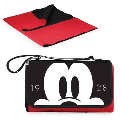 Picnic Time Disney Mickey Mouse Blanket Tote Outdoor Picnic Blanket - Red
