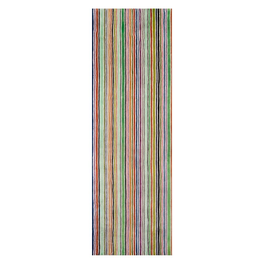 2'6X8' Stripe Tufted Runner - Momeni, Multi-Colored