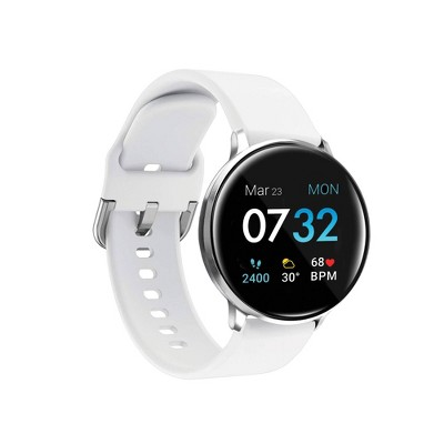 iTouch Sport Fitness Smartwatch - Silver Case with White Strap