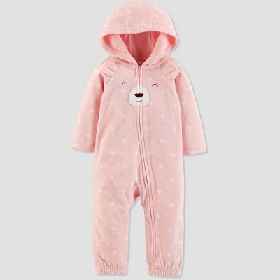 Baby Girls' 1pc Bear Jumpsuit - Just One You® made by carter's Pink Newborn