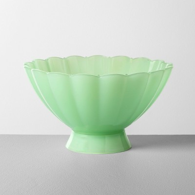 Milk Glass Scalloped Bowl Green - Hearth & Hand™ with Magnolia