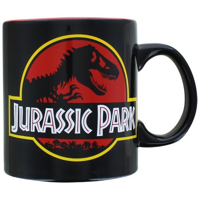 Silver Buffalo Jurassic Park Logo 20oz Ceramic Mug