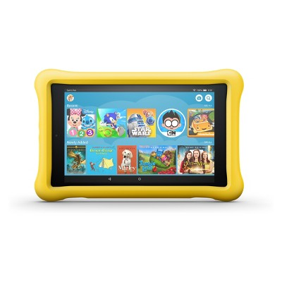 """Amazon Fire HD 8 Kids Edition Tablet 8"""" HD Display (8th Generation, 2018 Release)- Yellow Kid-Proof Case - 32GB"""
