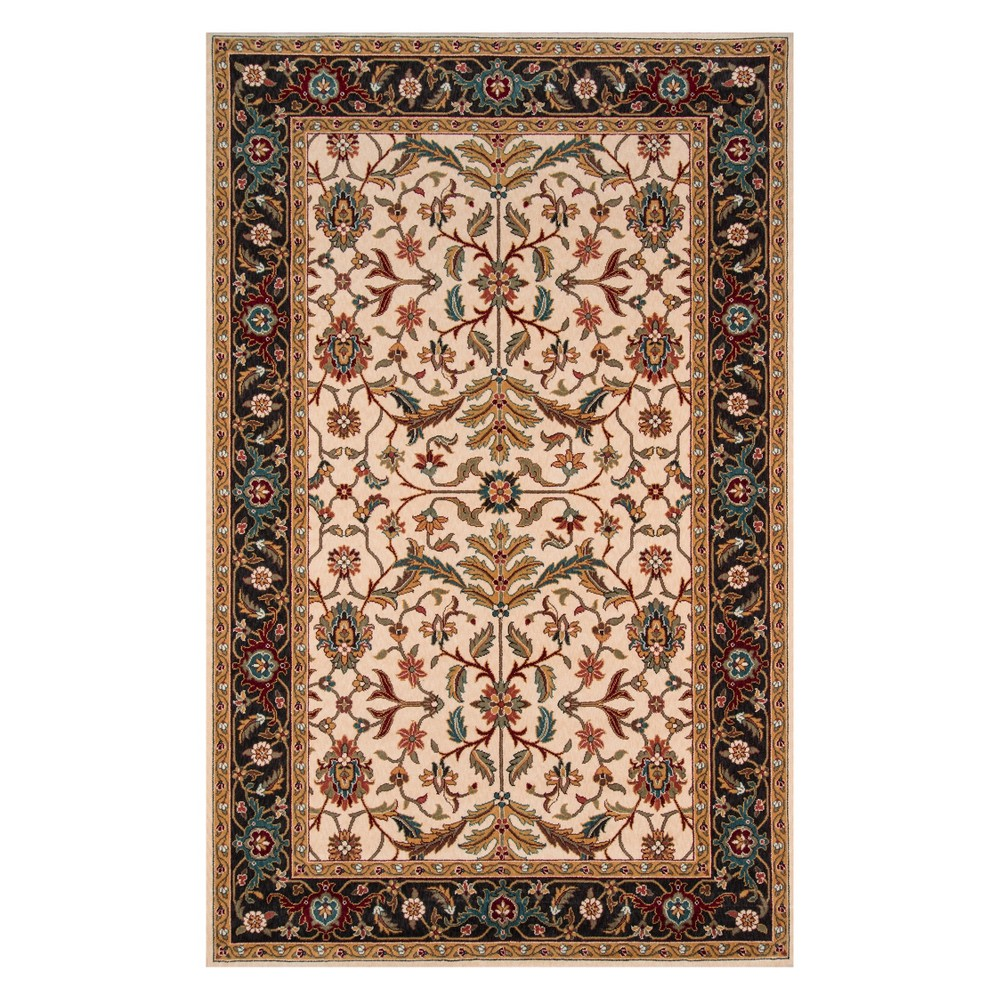 8'X10' Floral Loomed Area Rug Charcoal - Momeni, Gray