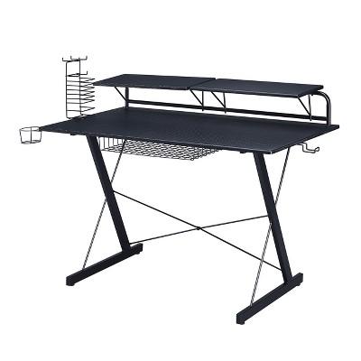 Multi Functional Carbon Gaming Desk Black - Techni Sport