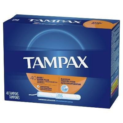 Tampax Tampons - Super Plus Absorbency - Cardboard - 40ct : Target