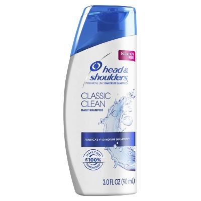 Head and Shoulders Classic Clean Daily-Use Anti-Dandruff Paraben Free Shampoo - 3 fl oz