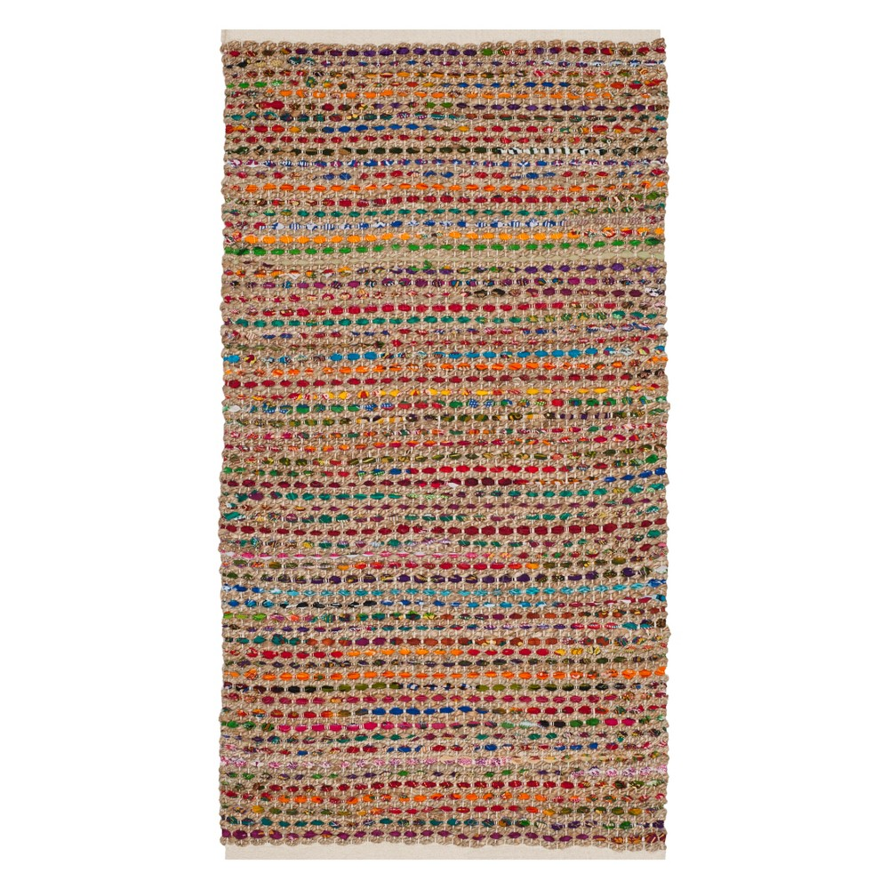 3X5 Stripe Woven Accent Rug Natural - Safavieh Cheap