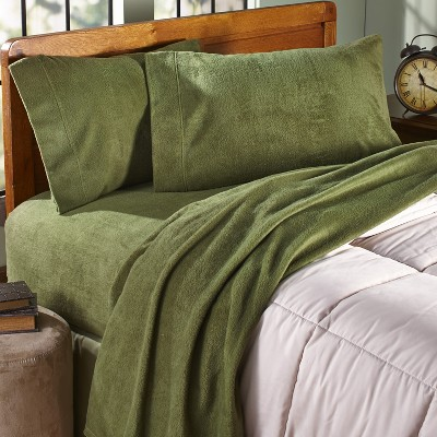 Lakeside Full Fleece Bedding Sheet Set with Matching Pillow Cases - 4 Pieces