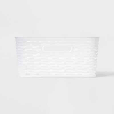 Wave Medium Rectangle Storage Bin Translucent - Room Essentials™