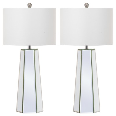 "(Set of 2) 31.5"" Janice Table Lamp Clear (Includes CFL Light Bulb) - Safavieh"