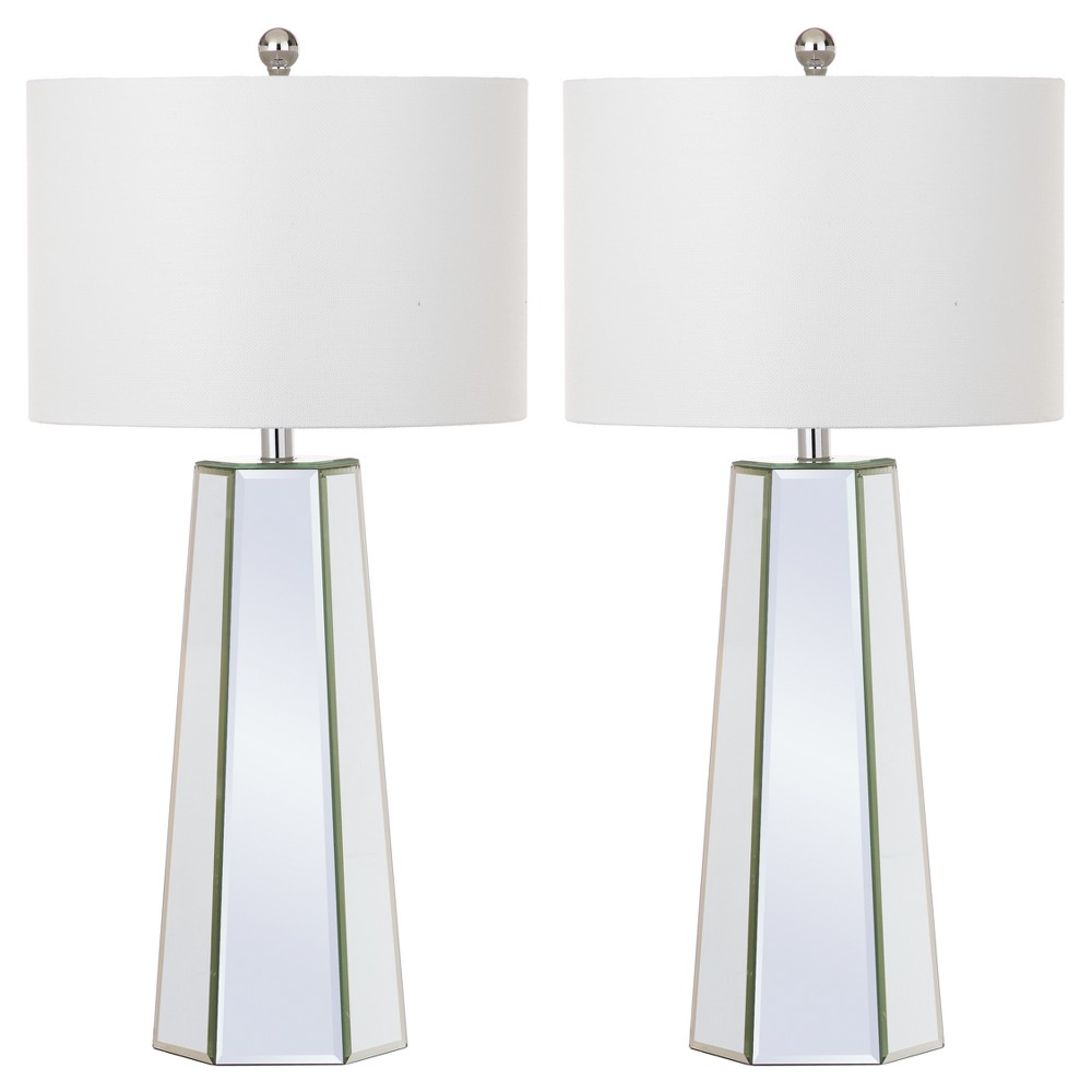 Image of Janice Clear Glass Table Lamp Set of 2 - Safavieh